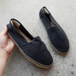 UGG Black Espadrille Slip-on Loafer Flats S3